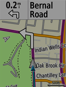 Advanced navigation with Garmin Cycle Map
