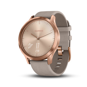 vívomove HR Premium Rose Gold szürke bőr szíjjal (127-204 mm.)